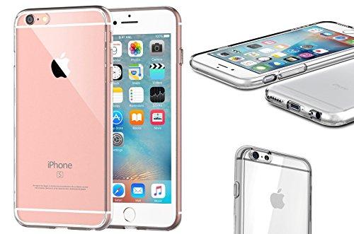 iPhone 6S / 6 (4,7 Zoll) Silikon Hülle Case Clear TPU Schutzhülle durchsichtig transparent clear Original von wortek (Iphone Fall 6 Klarer)