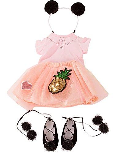 Götz 3402926 Kombination Dolce Vita - Puppenbekleidung Gr. XL - 5-teiliges Bekleidungs- und Zubehörset für Stehpuppen 45 - 50 cm