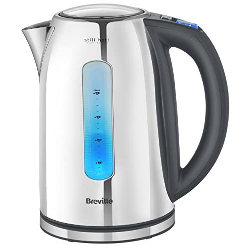 Breville VKJ846 Stainless Steel Kettle with Still Hot Illumination, Stainless Steel