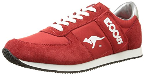 Kangaroos Combat, Baskets mode homme Rouge (Red/Wht 600)