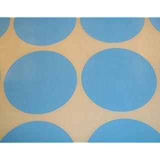 Audioprint Ltd. Packung Zu 200 Stück Rund Farben Code Punkte Blanko Preis Aufkleber Selbstklebeetiketten - Hellblau, 38mm