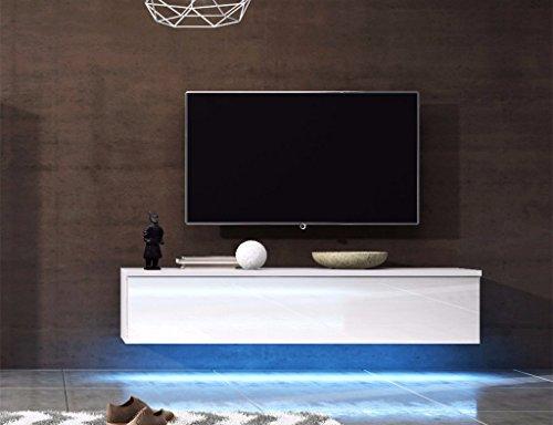 Wohnwand MIT BIOKAMIN Lowboard TV Schrank Sideboard Wohnzimmer Set ...