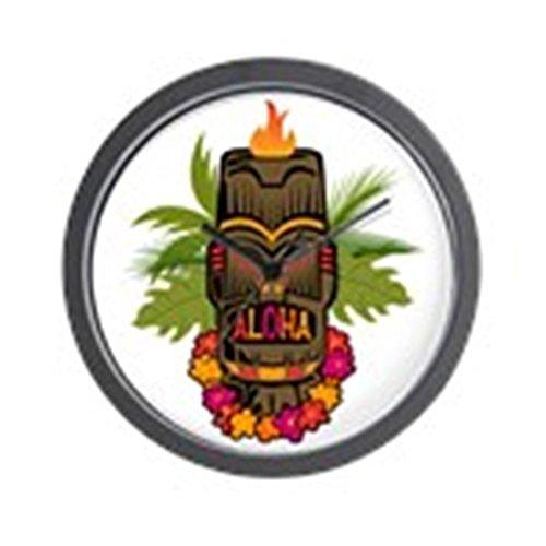 CafePress - Tiki Aloha - Einzigartige dekorative Wanduhr 25,4 cm
