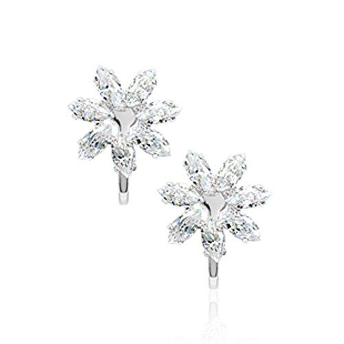 ladies fashion clip orecchio invisibile/Versione coreana non trafitto orecchini di cristallo/ Ms pulite orecchio (Ciondolano Clip)
