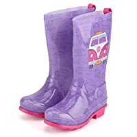 Volkswagen Girls PVC Wellies - VW Wellington Boots - Freedom - Purple