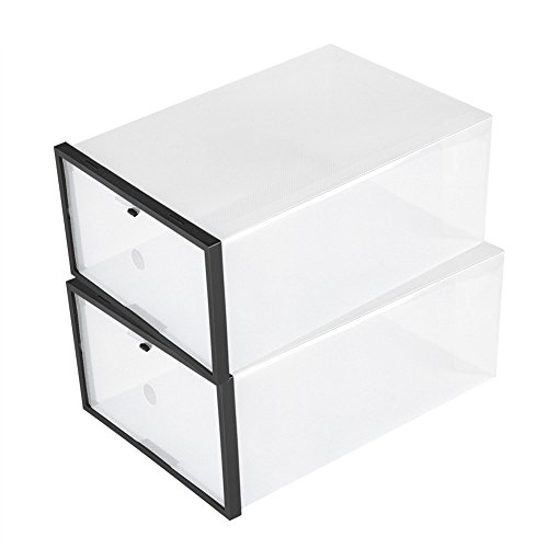 Schuh Box, stapelbar transparentem Kunststoff Faltbare Schublade Schuh Fall Aufbewahrung Organizer -