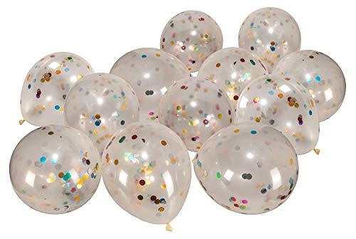 18x Konfetti Luftballons Bunt Konfetti Ballons Latex Luftballon Hochzeit Konfetti Geburtstag Helium Ballon Dekoration Party Geburtstagsdeko