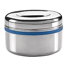 Milton Supreme Big Single Container Snacks Box, 250 ml, Steel Plain (EC-TMS-TTF-0003_STEELPLAINCO)