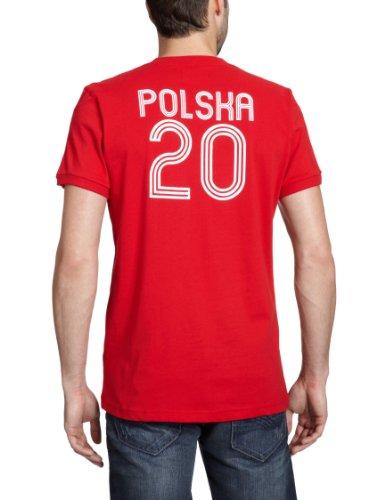 adidas, Maglietta uomo E12 Poland Rosso (light scarlet/white)