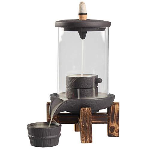 shaolin Räucherstäbchenhalter, Keramik, Reflux, Wasserfall, mit Umlaufkegel, Blumendekoration, für Büro -