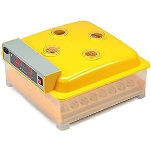 Melko® Inkubator Vollautomatisch 48 Eier Brutkasten Brutmaschine Geflügel Motorbrüter Brutautomat Hühner