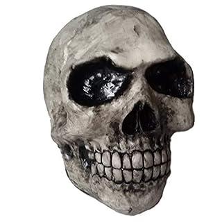 Handgefertigt Schutzkappe Anhängerkupplung Abdeckung Totenkopf Schädel Kugelkopf Abdeckkappe versch. Farben AHK (weiß-schwarz)