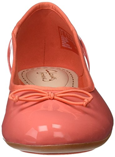 Clarks Couture Bloom, Mocassini Donna Arancione (Coral Patent)