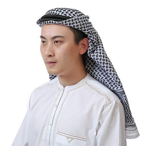 Kopfbedeckung Herren Ethno Style Arabischer Kopfschmuck Klassiker Fashion 1001 Classic Nacht Karneval Cosplay Kostüm Zubehör Jungs (Color : Schwarz, Size : One - Cosplay Kostüm Für Schwarze Jungs