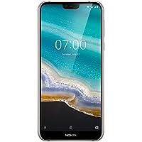 NOKIA 7.1 - Smartphone Débloqué 4G (Ecran PureDisplay 19:9 Full HD+ : 5,8 Pouces - 3/32Go stockage  - Double SIM - Android Pie 9.0 ready - Qualcomm Snapdragon 636) - Argent [Version française]