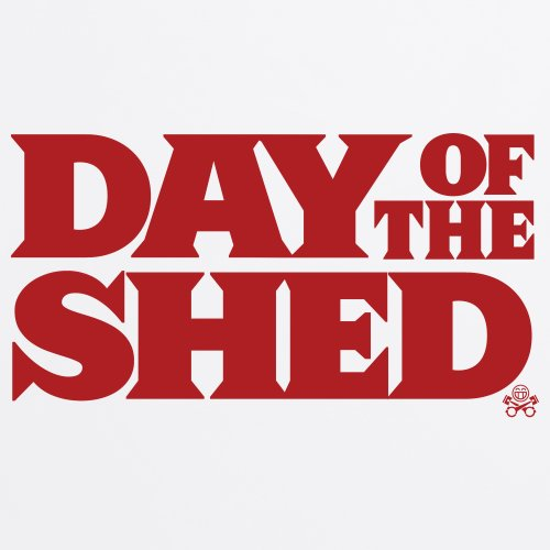 Day of the Shed T-Shirt, Herren Wei