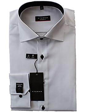 ETERNA Hemd, Weiß, Modern Fit mit extra lange Ärmel 68cm, Bügelfrei, 100% Baumwolle, New Kent Kragen