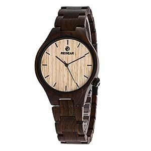 Unisex orologio da polso in legno case di legno reale for Orologio legno amazon