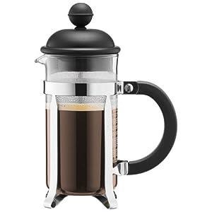 BODUM Caffettiera 3 Cup French Press Coffee Maker, Black, 0.35 l, 12 oz