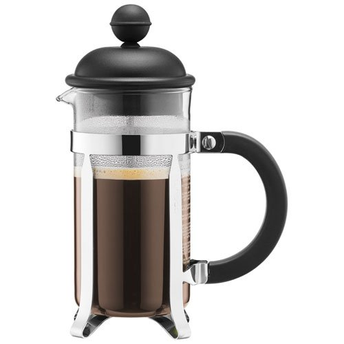Bodum CAFFETTIERA Kaffeebereiter (French Press System, Permanent Edelstahlfilter, 0,35 liters) schwarz (Tasse Kaffee French Press)