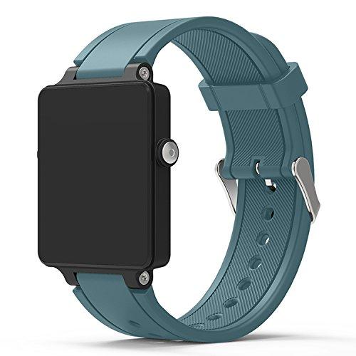 XingWangFa for Garmin Vivoactive Acetate Straps Armbands Soft Silicone Sport Armband Replacement Strap for Garmin Vivoactive Acetate SmartWatch-Rock Blue