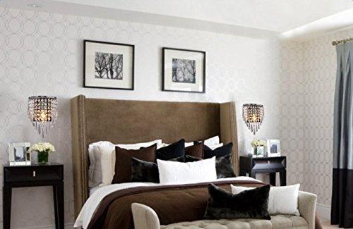 Maxmer applique per interni lampada da parete di cristallo moderno