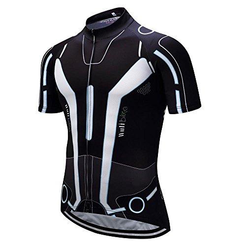 logas Männer Kurzarm Radfahren Jersey Top Bike Fahrrad T-Shirt Breathable Quick Dry (Shirt Bike Trikot Fahrrad)