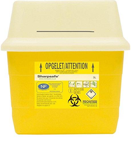 Sharpsafe Behälter für fhshar34Collector Praxis Nadel, Fassungsvermögen 3l, 205mm Höhe x 197mm x Länge 120mm Breite, Gelb (50Stück)