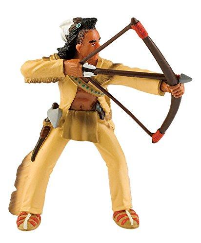 Bullyland 80675 - Spielfigur, Indianer mit Bogen, ca. 10 cm