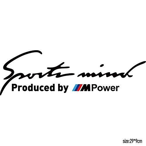 Preisvergleich Produktbild Sportmind M Power Sport Mind Sticker Sport Car Black, Waschanlagenfest,Profi Qualität Aufkleber,