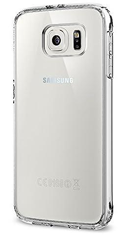 Samsung Galaxy S6 Hülle, Spigen® [Ultra Hybrid] Luftpolster-Technologie [Crystal Clear] Durchsichtige Rückschale und TPU-Bumper Schutzhülle für Samsung S6 Case, Samsung S6 Cover, Galaxy S6 Case, Galaxy S6 Cover - Crystal Clear