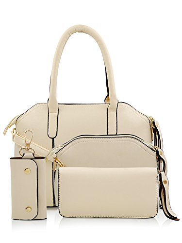 Mark & Keith Women Handbag White MBG 0304 WH