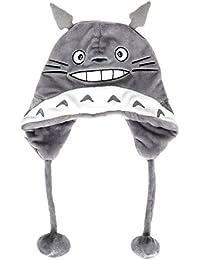 CoolChange Gorro de vellón de Totoro con ponpon