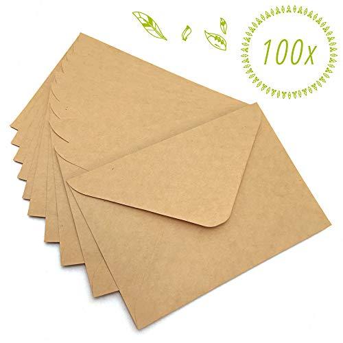 Japun - Briefumschläge (100 Stück) aus vintage Kraftpapier/ohne Fenster - C6-163 x 112 mm