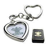 Schlüsselanhänger Herz für Foto im Geschenk Etui