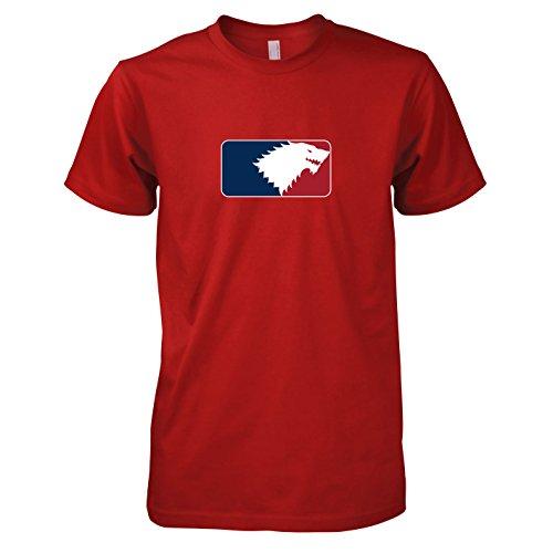 TEXLAB - GoT League - Herren T-Shirt, Größe L, - Brandon Stark Kostüm