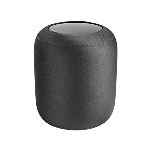 Kompatibel mit HomePod Schutzhülle, Colorful weichem Flanell Schutzhülle Allround Abdeckung für Apple HomePod Smart Lautsprecher (Grau) -