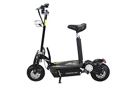 E-Scooter Roller Original E-Flux Freeride 1000 Watt 48 V mit Licht und Freilauf Elektroroller E-Roller in vielen Farben (schwarz) - 2