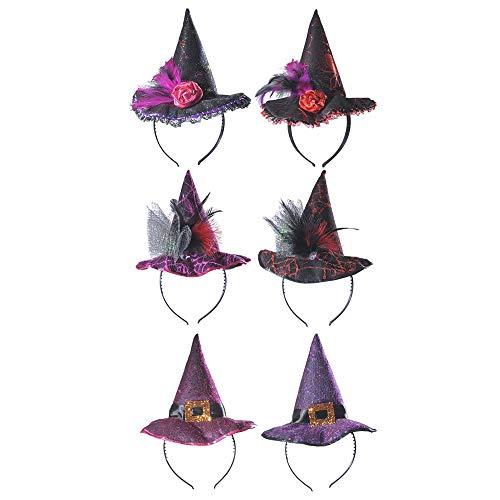WIDMANN Sancto Witch Hat Headbands - 6 Styles