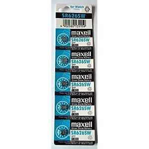 (2X) 5x Maxell SR626SW SR626AG4377,1,5V Batterien für Armbanduhr