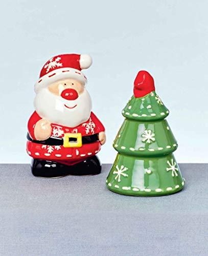 euer aus Keramik, Design: Weihnachtsmann und Weihnachtsbaum, Set ()
