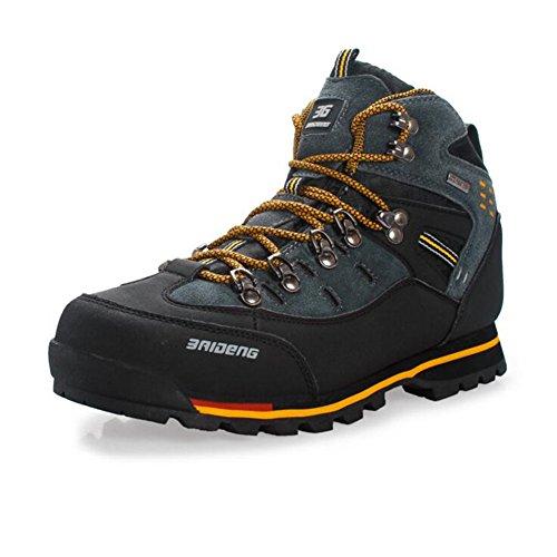 Showlovein Wasserdichte Leder Outdoor Wanderschuhe Herbst Winter Herren Sport Trekking Bergsteigen Stiefel, Orange, 41 EU