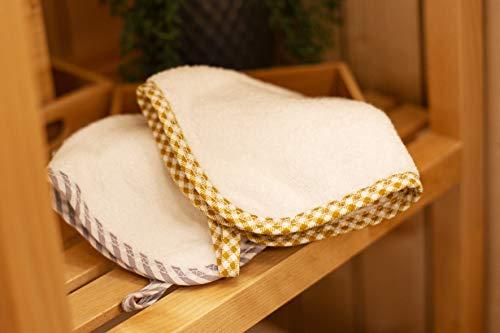 Candoo Bambus Waschlappen,Ultra-Soft, 6er Packet,25 * 25 cm (Braun)