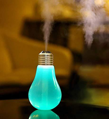 400ml umidificatore silenzioso, portatile usb lampadina umidificatore con 7 colori cangianti luce led con nebbia fredda per ufficio, automobile, casa, stanza per bambini (testa d'oro opaco)