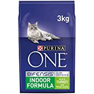 Purina ONE Indoor Dry Cat Food Turkey and Wholegrain 3kg