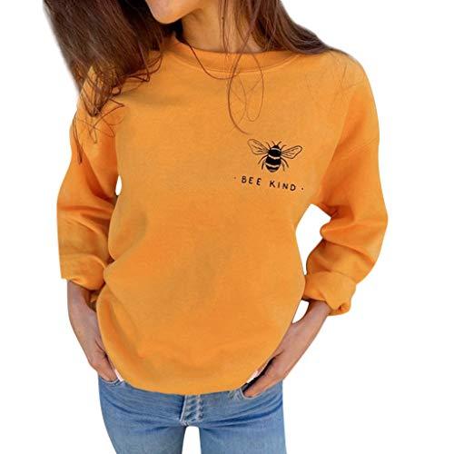 RYTEJFES Ropa de Mujer Otoño Invierno Sudadera Kind Bee Tops...