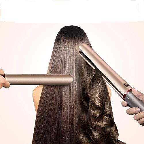 IVYSHION Lisseur Cheveux, Fer à Lisser Professionnel Boucleur Plaques en Céramique 2 en 1 Lisseur Cheveux con Chauffe Rapidement pour Tous Types de Cheveux , D'or