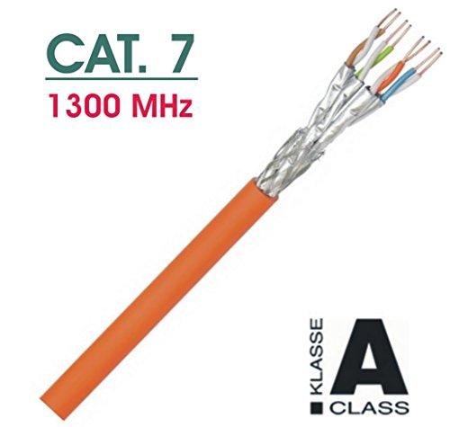 Preisvergleich Produktbild 100m CAT-7a Netzwerkkabel Profi-Line - S/FTP - 1000 MHz - 100% Kupfer - Klasse A