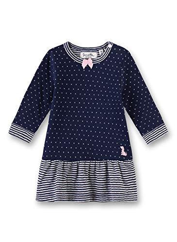 Sanetta Baby-Mädchen Dress Kleid, Blau (Deep Blue 5993), 62 (Herstellergröße: 062)
