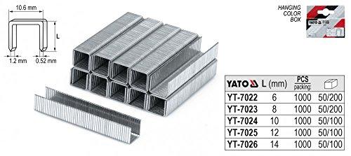 Yato yt-7023-8mm Klammern/10.6x 1.2/1000pcs